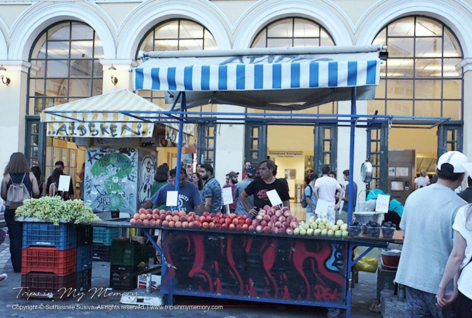 Fresh fruit stall