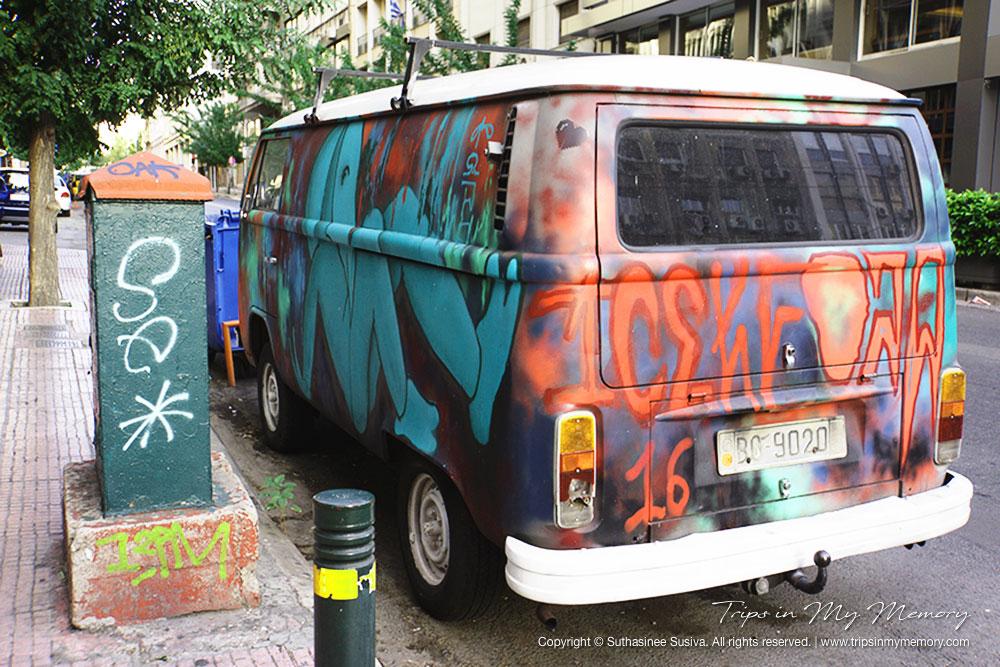 Graffiti on a Classic Van