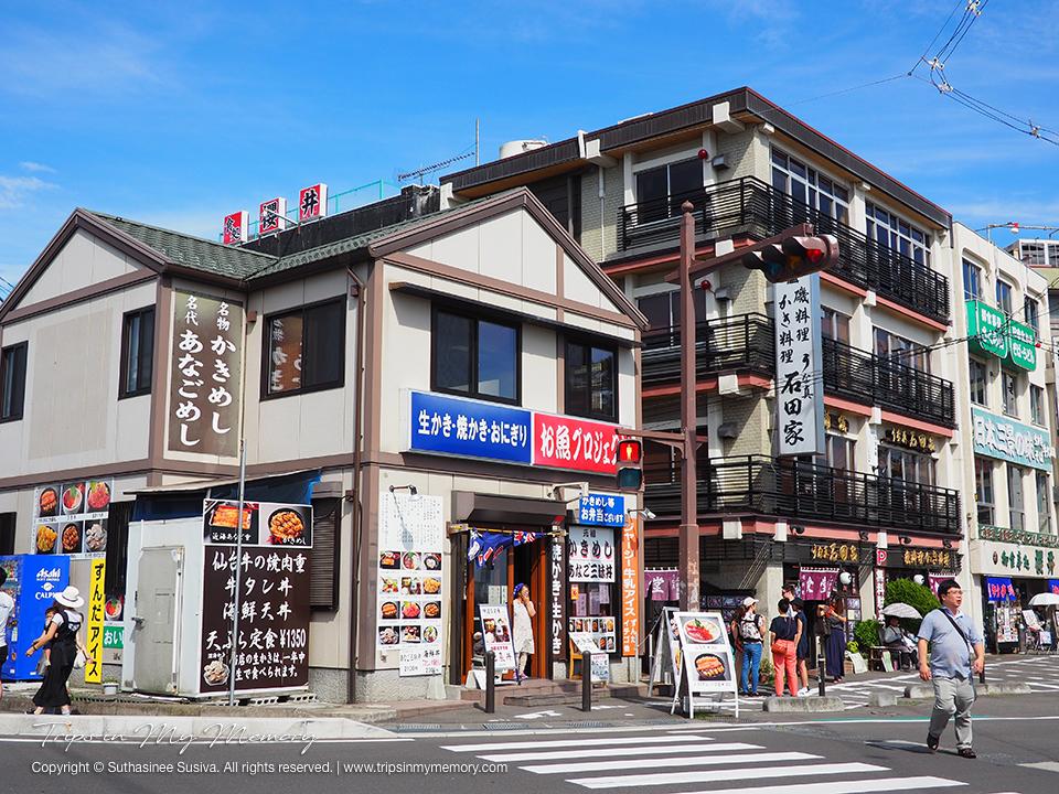 Shops by the Matsushima Bay